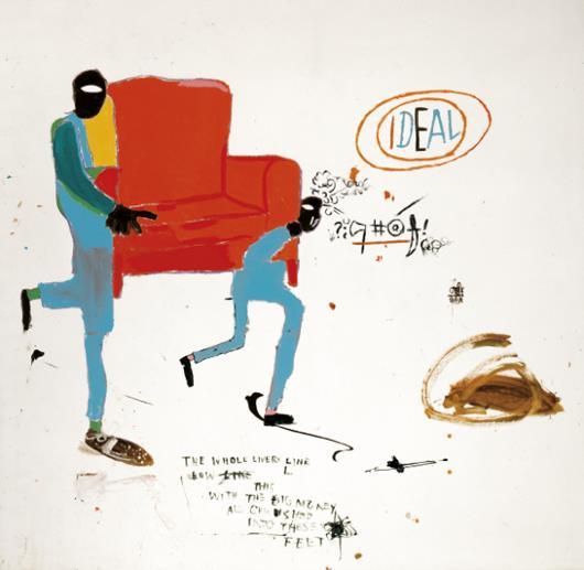 Jean-Michel Basquiat-Light Blue Movers-1987