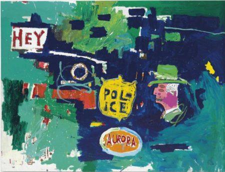 Jean-Michel Basquiat-Love Dub for A-1987