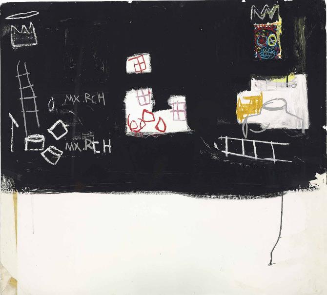Jean-Michel Basquiat-Max Roach-1982