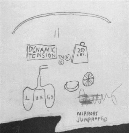Jean-Michel Basquiat-Mirrors-