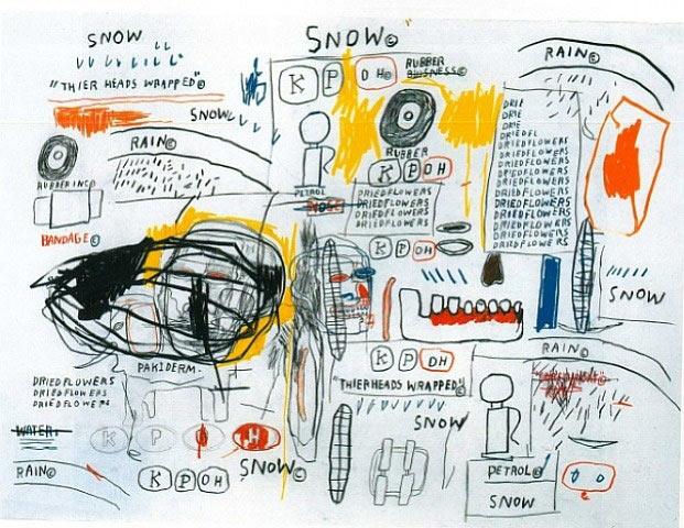 Jean-Michel Basquiat-More Dried Flowers-1984