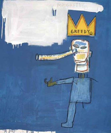 Jean-Michel Basquiat-Mr.Greedy-1986