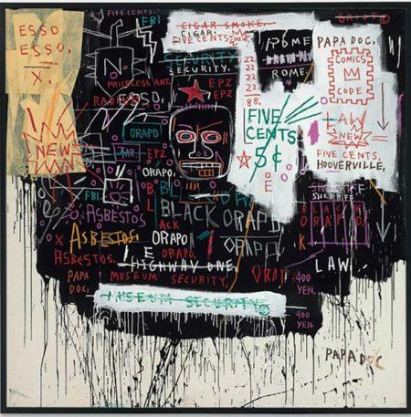 Jean-Michel Basquiat-Museum Security (Braodway Meltdown)-1983