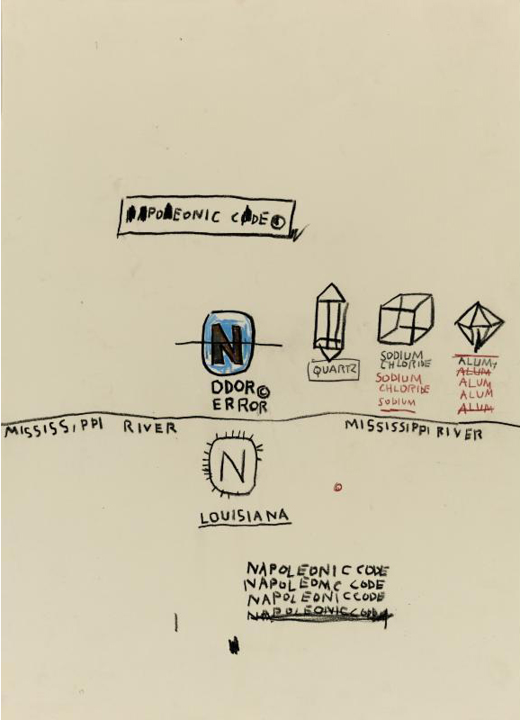 Jean-Michel Basquiat-Napoleonic Code-1987