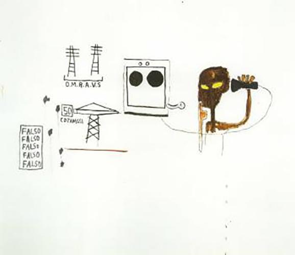 Jean-Michel Basquiat-O.M.R.A.V.S-1984