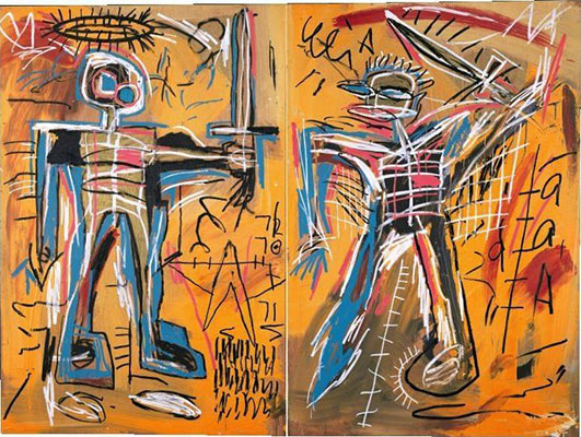 Jean-Michel Basquiat-Offensive Orange-1982