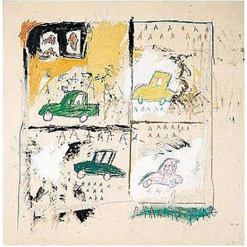 Jean-Michel Basquiat-Old Cars-1981