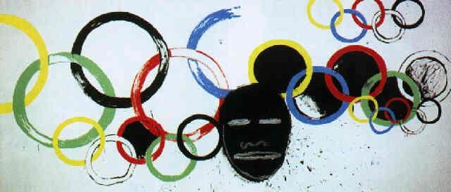 Jean-Michel Basquiat-Olympic Rings-1985