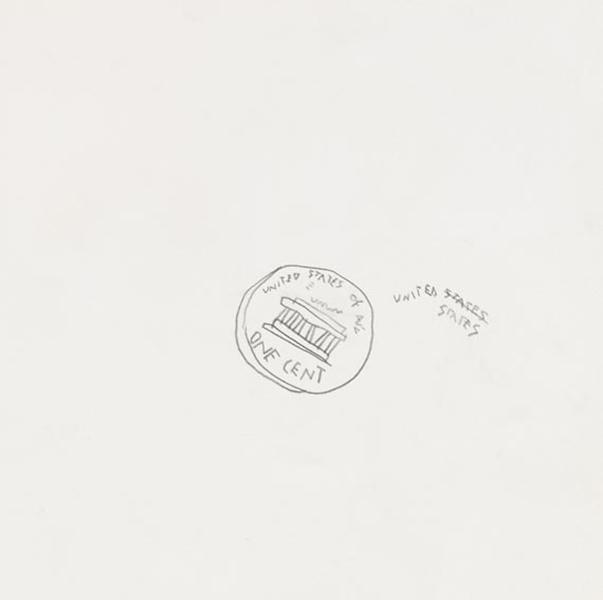Jean-Michel Basquiat-One Cent-1980