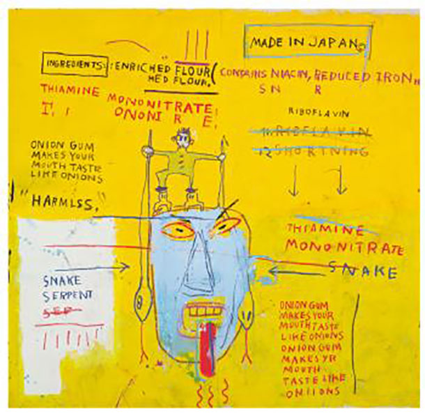 Jean-Michel Basquiat-Onion Gum-1983