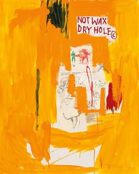 Jean-Michel Basquiat-Orange-1988