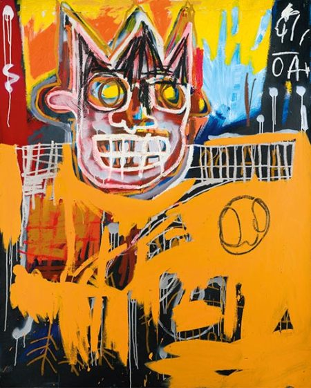 Jean-Michel Basquiat-Orange Sports Figure-1982