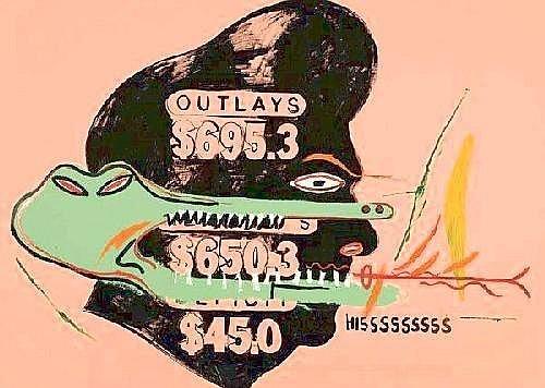 Jean-Michel Basquiat-Outlays Hisssssssss-1984