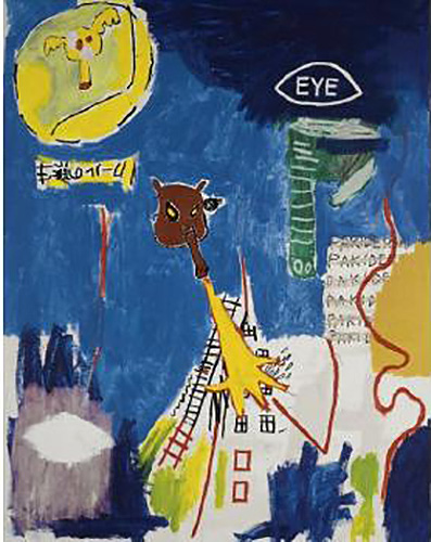 Jean-Michel Basquiat-Pakiderm-1984