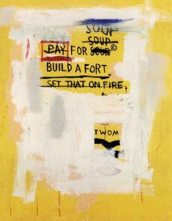 Jean-Michel Basquiat-Pay for Soup/Universal/The Whole Livery Line-1987