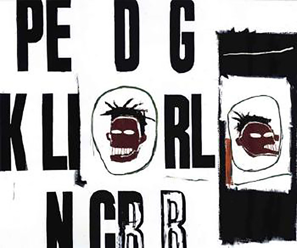 Jean-Michel Basquiat-Pe D G, Two Heads-