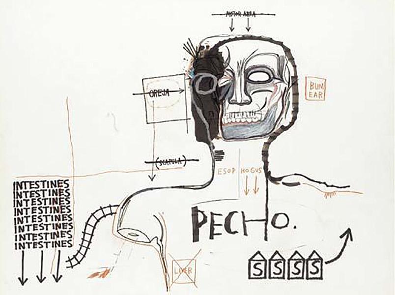 Jean-Michel Basquiat-Pecho-1983