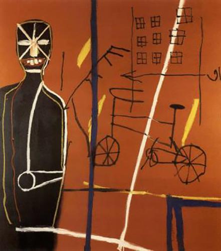 Jean-Michel Basquiat-Pedestrian I-1984