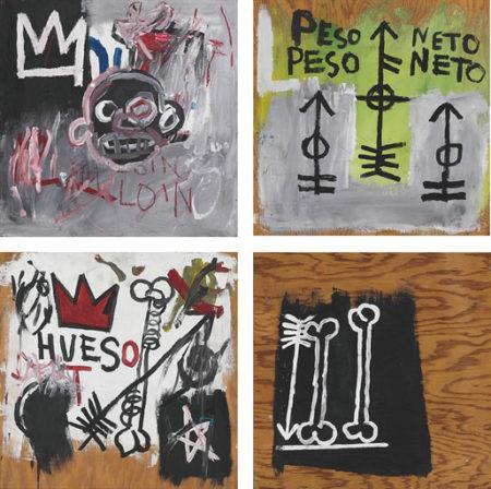 Jean-Michel Basquiat-Peso Neto (Polyptych)-1982