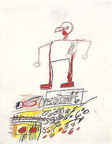 Jean-Michel Basquiat-Philistines Babylonians-1982