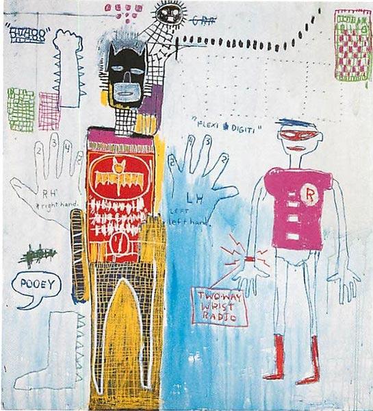 Jean-Michel Basquiat-Piano Lesson (for Chiara)-1983