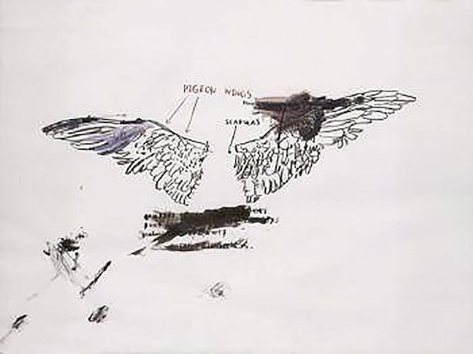 Jean-Michel Basquiat-Pigeon Anatomy-1983