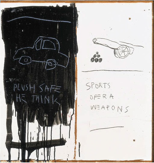Jean-Michel Basquiat-Plush Safe - He Think-1981