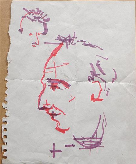 Jean-Michel Basquiat-Portrait Of Rene Ricard-