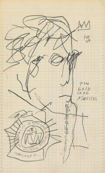 Jean-Michel Basquiat-Portrait of Henry Geldzahler-1982