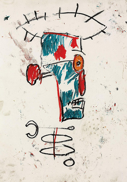 Jean-Michel Basquiat-Portrait of Keith Haring-1984