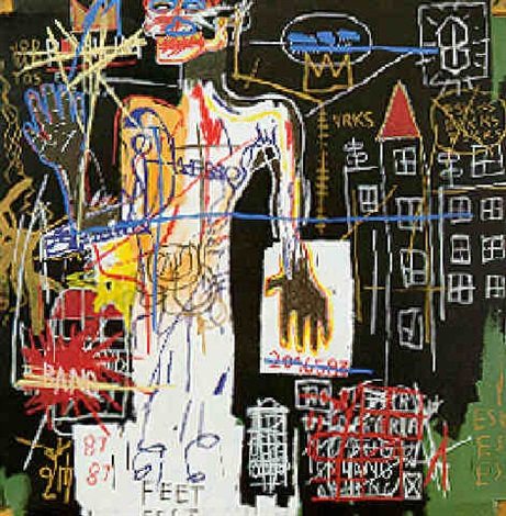 Jean-Michel Basquiat-Portrait of VRKS-1982