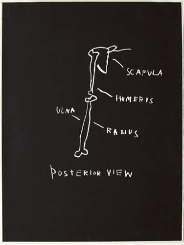 Jean-Michel Basquiat-Posterior View, Serie Anatomy-1982