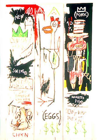 Jean-Michel Basquiat-Quality Meats For The Public-1982