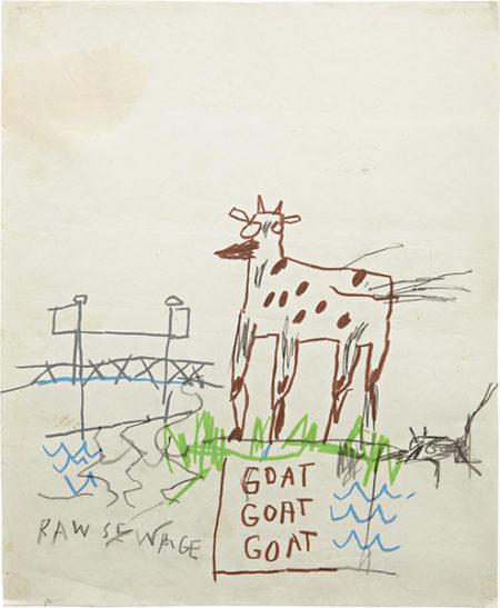 Jean-Michel Basquiat-Raw Sewage-1984