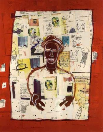 Jean-Michel Basquiat-Red Joy-1984