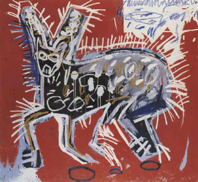 Jean-Michel Basquiat-Red Rabbit-1982