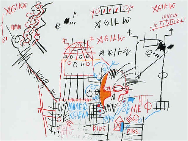 Jean-Michel Basquiat-Ribs-1982