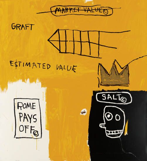 Jean-Michel Basquiat-Rome Pays Off-2004