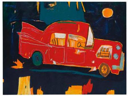 Jean-Michel Basquiat-Rusting Red Car in Kuau-