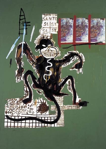 Jean-Michel Basquiat-Sacred Ape-1986