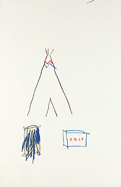 Jean-Michel Basquiat-Salt-1981