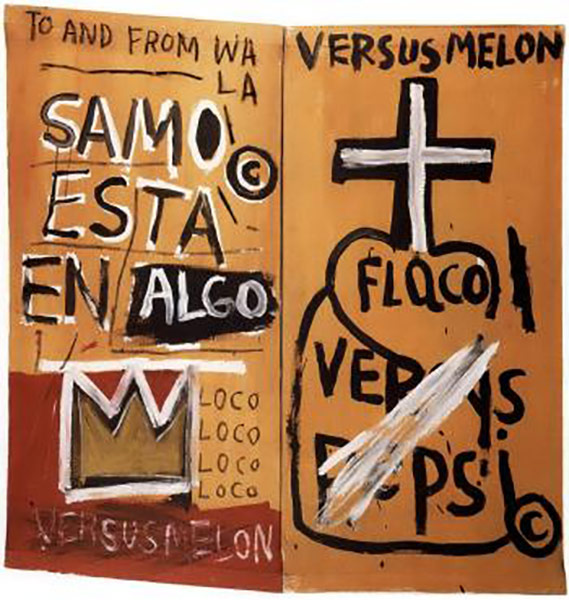 Jean-Michel Basquiat-Samo Esta en Algo-1980