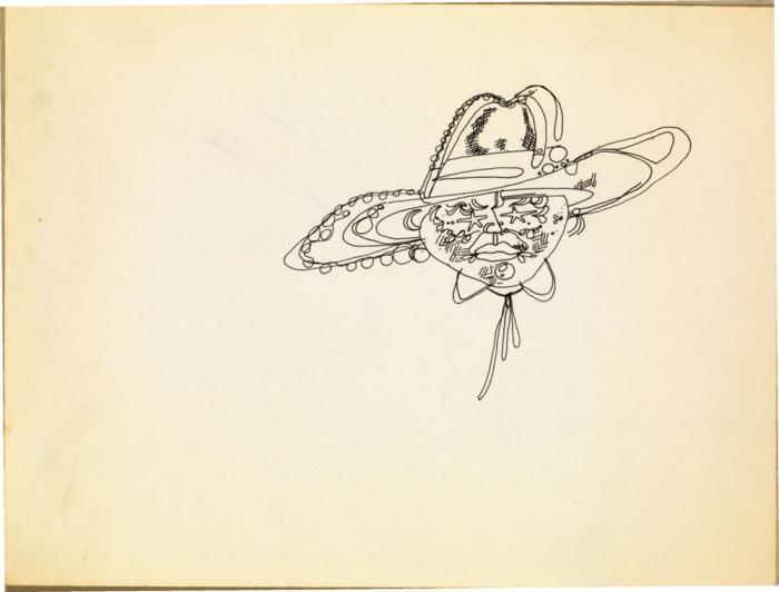 Jean-Michel Basquiat-Sans Titre (Ballon Hat)-