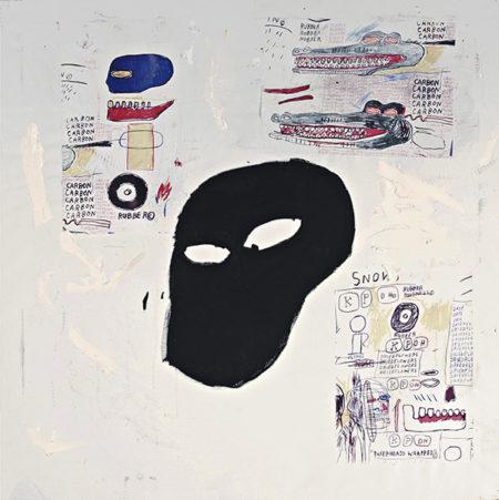 Jean-Michel Basquiat-Sans Titre (Black Ghost Face)-1984