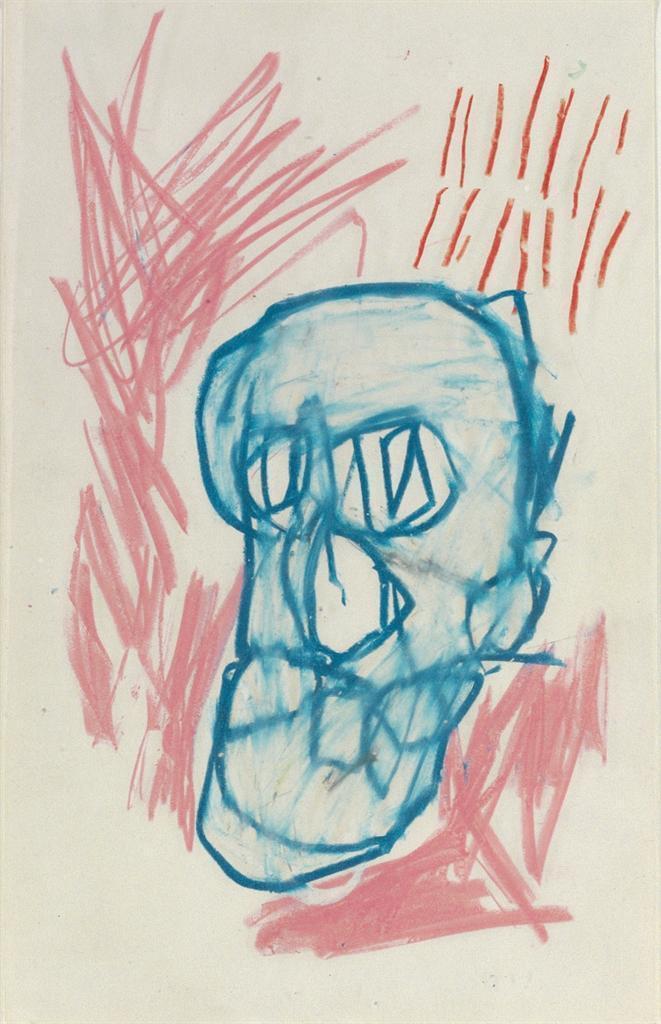 Jean-Michel Basquiat-Sans Titre (Blue Face)-1982