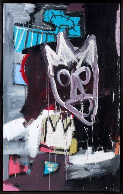 Jean-Michel Basquiat-Untitled (Blue Halo)-1982