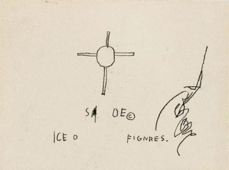 Jean-Michel Basquiat-Sans Titre (Cross, Sa Oe, C)-1985