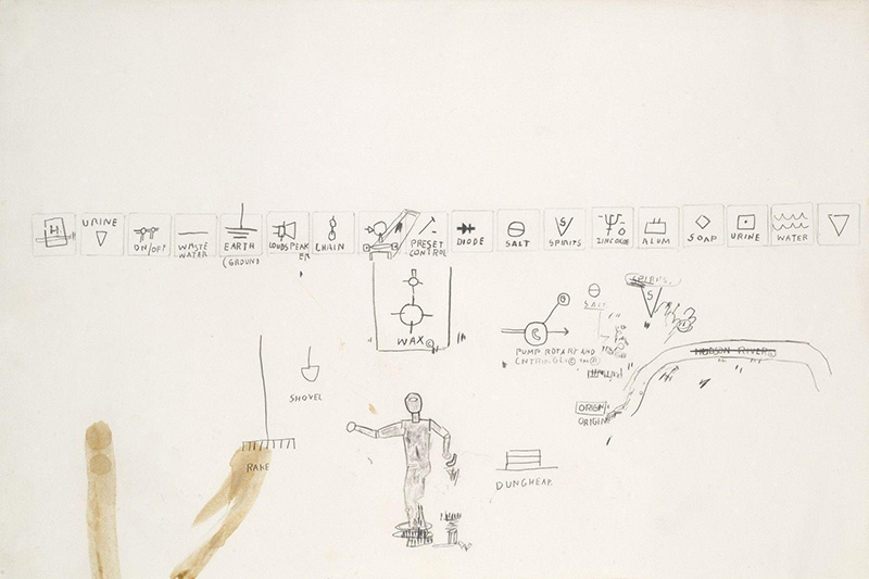 Jean-Michel Basquiat-Sans Titre (Elements)-