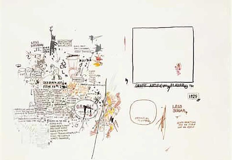 Jean-Michel Basquiat-Sans Titre (Empty Square)-1986