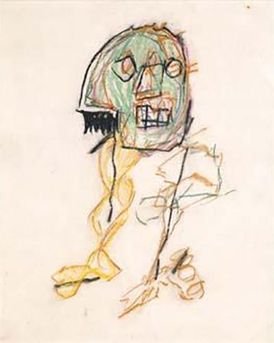 Jean-Michel Basquiat-Sans Titre (Head Legs)-1982